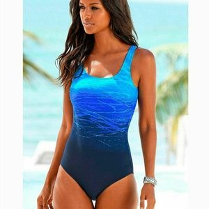 Other - NWOT  BLUE  ONE PIECE SWIMSUIT SIZE L